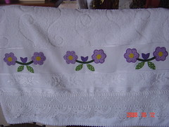 minha toalha! (Renata ...) Tags: flor patchwork