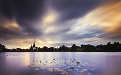 Lichfield Cathedral (Corica) Tags: uk longexposure greatbritain sunset england sky landscape nikon cathedral staffordshire midlands lichfield d300 lichfieldcathedral staffs corica stowepool dazat