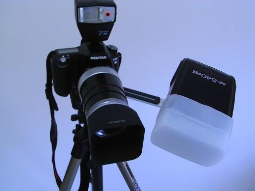 我的新微距补光组装
