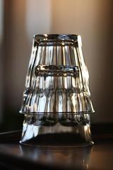 Espresso (viking_funeral) Tags: sunset coffee canon eos glasses bokeh coffeecup refraction espresso glassware duralex 50mmf18ii 40d