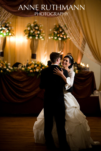 First Wedding Dance, Elegant Reception Decor w/ lush flowers