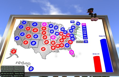 Electoral Map in Capitol Hill sim, Second Life
