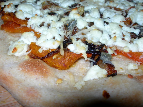 Butternut Squash - Goat Cheese Pizza