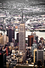 Dark City, Empire State (nosha) Tags: nyc newyorkcity ny newyork nikon air september helicopter 2008 heli d300 18200mm nosha