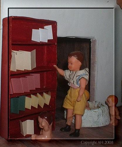 Nukkekodin kirjahylly!