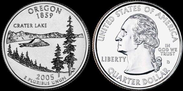 USA km#372 Oregon State Quarter