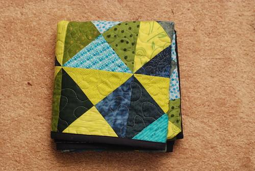 Booker's quilt folded