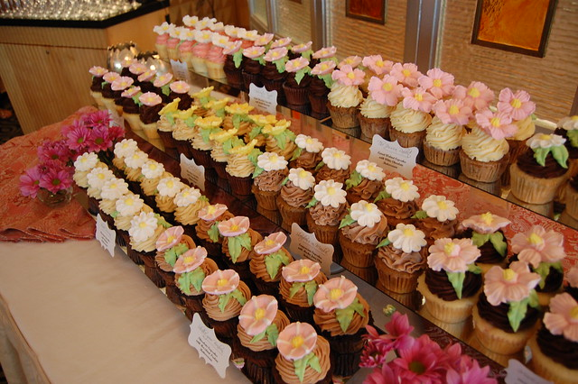 Floral Cupcake Buffet at the Tower Club