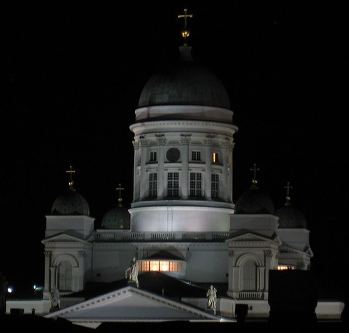 The Helsinki Cathedral from my hotel room window