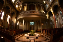 St. James Cathedral (Penseroso) Tags: seattle architecture churches cathedrals stjamescathedral interiorarchitecture lowlightphotography tokina1017mmfisheyezoom