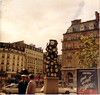 Clock Sculpture outside Gare St. Lazare - Paris - Lubitel - 1989