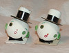 Vintage Pair (changoblanco) Tags: christmas glitter vintage snowman ornaments heads