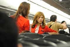 Air Asia Flight Stewardess  uniform. (Almixnuts) Tags: venetian cotai cotaistrip cotaistrips