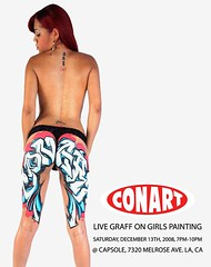 DECEMBER 13TH, 2008 ~ Conart @ Capsole (amayzun) Tags: show girls art graffiti losangeles flyer paint graf graff flyers conart