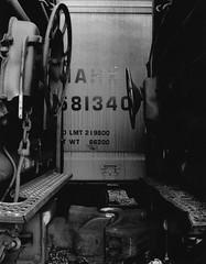 Inbetween Cars (K.Haupt) Tags: blackandwhite bw film train bristol virginia railcar foma virginiaintermont