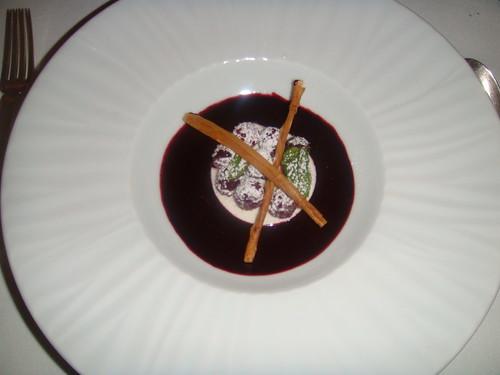Mousse de yogur con frambuesas