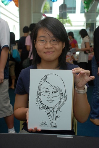 Caricature live sketching at Singapore Art Museum Christmas Open House - 7