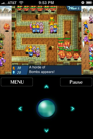 Final fantasy tower defense iPhone game pic