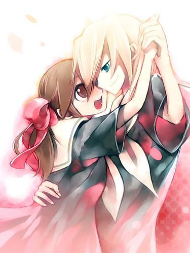 kakazima: anime couples in sunset