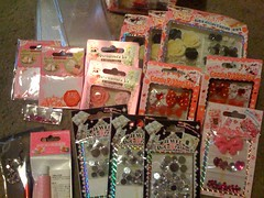 ★Deco stuff from my friend♪★ (Pinky Anela) Tags: pink red rose japan japanese heart crystal bow deco rhinestone dekoden