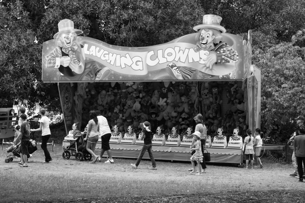 Laughing Clowns bw