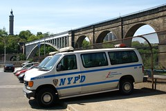 NYPD Police Van at High Bridge, Bronx, New York City (jag9889) Tags: new york city nyc bridge blue ny building tower water car station puente high automobile crossing force bronx bridges police nypd ponte transportation pont vehicle van brücke 2008 department lawenforcement 44 finest precinct task firstresponders newyorkcitypolicedepartment bxtf y2008 jag9889