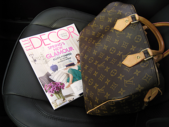 louis vuitton speeday+car+Elle Decor Spring 2010