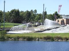 Sydney Olympic Park fountain (Simon_sees) Tags: lake fountain sydney sydneyolympicpark
