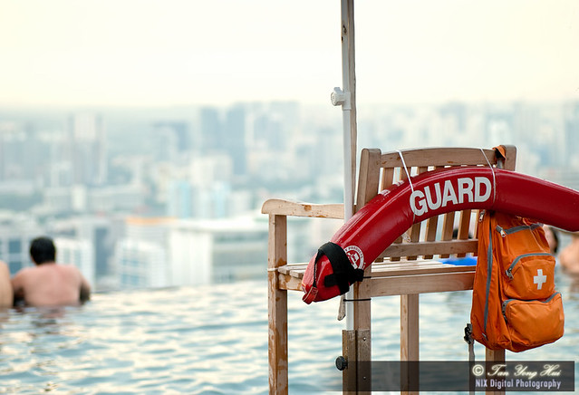 Singapore, Marina May Sands Skypark, No Life Guard