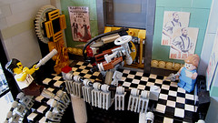 Lobby Detail (Imagine) Tags: tower architecture airplane toys lego billboard artdeco rapture littlesister bigdaddy moc watercity bioshock lifelites imaginerigney brickworld2011