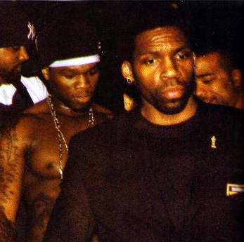 Elijah Shaw with client 50 Cent