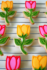 Tulip Cookies (Mad Baker) Tags: flower cookies tulips interestingness9 royalicing