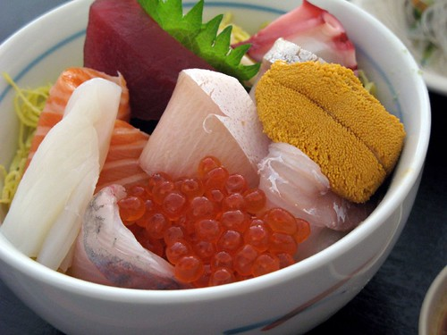 Bowl of Chirashi at Sakura