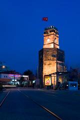 (smail) Tags: tower clock night turkey ancient ray nightshot quality turkiye clocktower antalya ismail saat 1740 manfrotto 30d 322rc2 turkcell saatkulesi kalekaps 055xprob fotografca