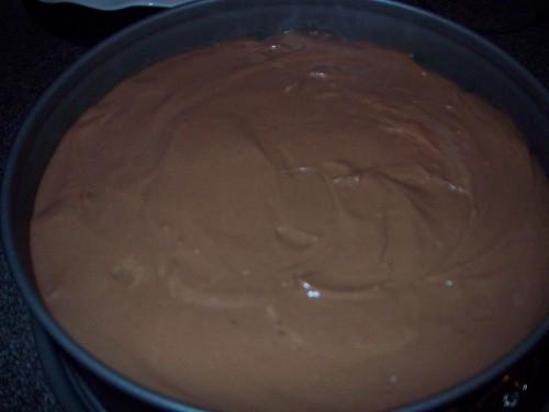 cheesecake before baking