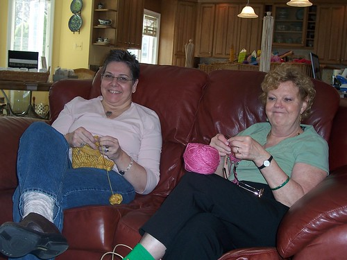 Knitting with Sheila's yarns