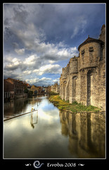 Gravensteen Castle, Gent, Belgium (Erroba) Tags: sky castle water clouds photoshop canon reflections belgium sigma medieval tips 1020mm polarizer erlend ghent gent hdr gravensteen 3xp photomatix supershot 400d superbmasterpiece megashot theunforgettablepictures theperfectphotographer erroba iamflickr robaye erlendrobaye flickrlovers detallessculpturalandaechitecturaltreasures