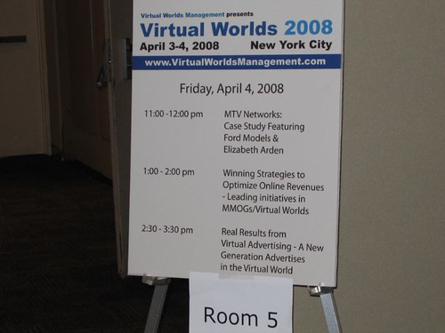 Virtual Worlds 2008 - Sign board