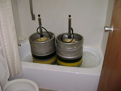 Beer kegs are ready to go