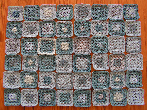 Baby Blanket all squares finished