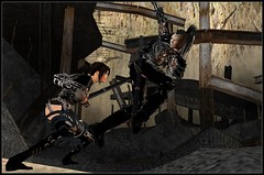Saphire & Kracht fighting @ Fort Stygian (Kracht Strom) Tags: art photography 3d screenshot sl secondlife untouched windlight wastelands saphire kracht slwindlight fortstygian viritual krachtstrom saphirenishi viritualworld purewindlight