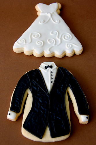 Close-up of Tux & Gown Cookies