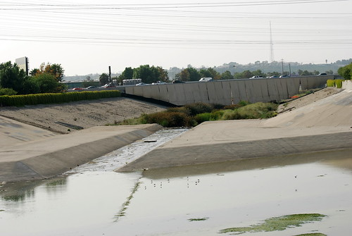 Confluence of Compton Creek and the Los Angeles River