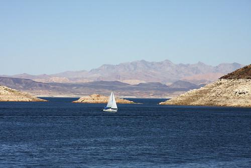 water sailboat nevada bluesky lakemead