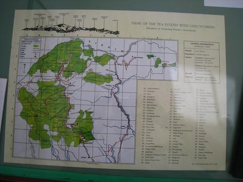 Map of tea plantations