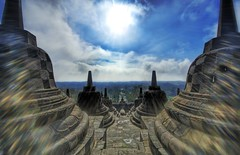 Borobudur at High Noon
