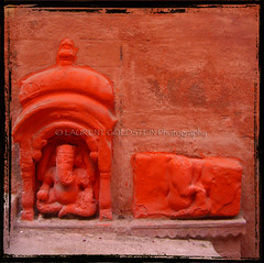 """You are Om"" (designldg) Tags: red india elephant ganesha colours god religion varanasi om hindu aum benaras uttarpradesh   indiasong articulateimages hourofthesoul"