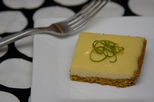 lime bars with pistachio graham cracker crust