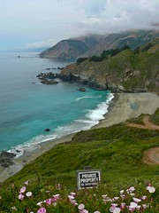 Heaven is private property (Andrei Dragomir) Tags: ocean california flowers usa beach clouds private landscape coast amazing waves pacific property highway1 pacificcoast andrei dragomir goldstaraward andreidragomir