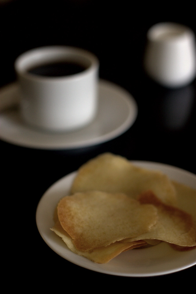 Tuile, Coffee, Cream